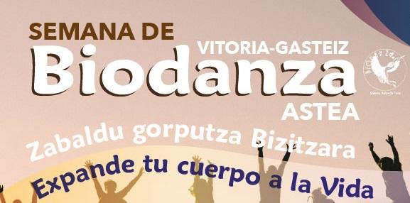 Del 23 al 28 de Septiembre, Semana de la biodanza de Vitoria-Gasteiz 2019