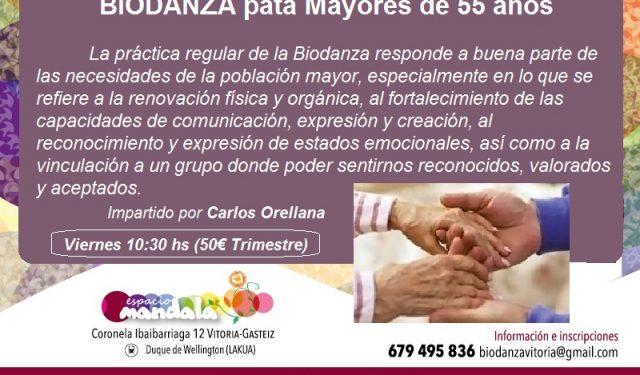 Biodanza para + de 55 años APÚNTATE YA!!!