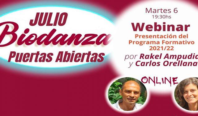 Puertas Abiertas Julio Webinar Presentación Programa Formativo Online (Martes 6, 19:30hs)